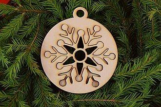 Dekorácie - Drevené vianočne ozdoby 2v1 z dreva 46 - 6946364_