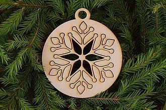 Dekorácie - Drevené vianočne ozdoby 2v1 z dreva 47 - 6946365_