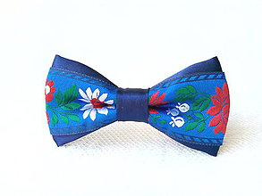 Ozdoby do vlasov - Mini Folklore hair clip (royal blue) - 6948509_