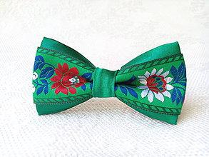 Ozdoby do vlasov - Mini Folklore hair clip (green) - 6948535_