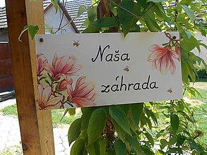 Tabuľky - Naša záhrada - 6948991_