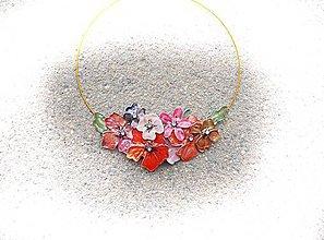 Náhrdelníky - keď slnko zapadá ...folk náhrdelník - 6949589_