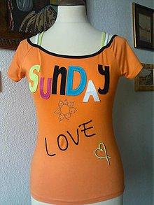 """Tričká - tričko """"láska na nedeľu"""" - 6949366_"""