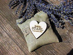 Darčeky pre svadobčanov - svadobné srdiečko - 6947714_