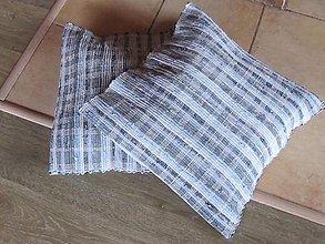 Úžitkový textil - VANKÚŠ tkaný Rifľový cca 50x50 cm - 6947985_
