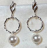 Svadobné náušnice perlové