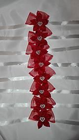 Náramky - Malé červené náramky pre družičky - 6948719_