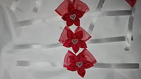Náramky - Malé červené náramky pre družičky - 6948722_