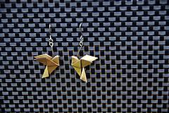 Náušnice - Zlaté holubičky - 6949284_