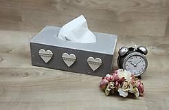Krabičky - HM - Krabička na papierové vreckovky - podstava obdĺžnik - 6948638_