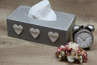 Krabičky - HM - Krabička na papierové vreckovky - podstava obdĺžnik - 6948640_