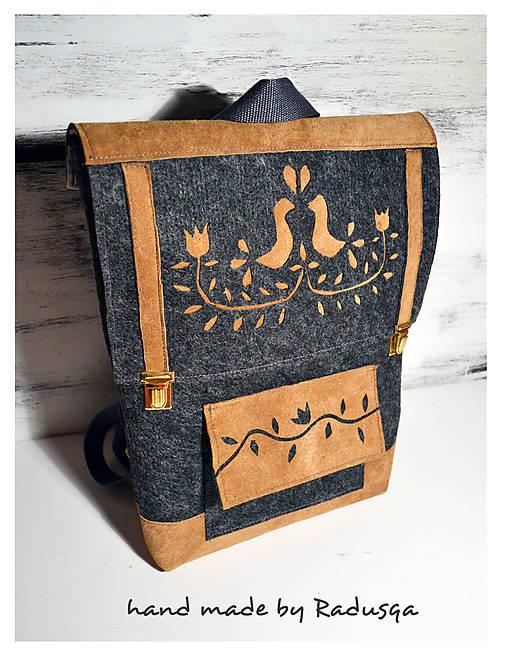 Ľudový batôžtek II.   radusqa - SAShE.sk - Handmade Batohy 584f2eae278
