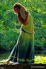 Sukne - Sukňa batikovaná, maľovaná, etno Z LOTOSU - 6947873_