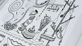 Grafika - Voňavá kuchyňa - Čaro domova - čiernobiela ilustrácia / maľovanka - 6950178_