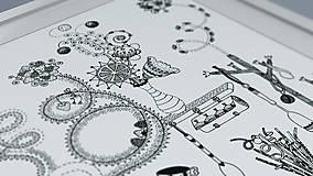 Grafika - Voňavá kuchyňa - Čaro domova - čiernobiela ilustrácia / maľovanka - 6950180_