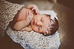 """Ozdoby do vlasov - Newborn venček pre bábätko """"priezračná nevinnosť"""" - 6947962_"""