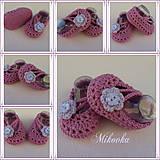 Topánočky - fialky - 6947529_