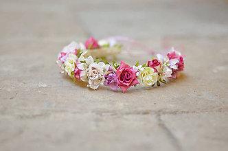 Ozdoby do vlasov - Prechádzka v ružovej záhrade - 6951338_