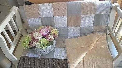 Úžitkový textil - Prehoz šedohnedá kombinácia - 6951741_