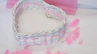Košíky - Košík-Srdiečko v ružovom - 6951572_