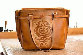 """Veľké tašky - Veľká kožená taška Surmena """" tan """" M - 6952926_"""