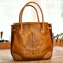 Veľké tašky - shopper bag DORA, tan vzor,  M - 6952962_