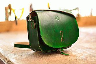 Kabelky - kožená kabelka HUNTRESS zelená - 6953055_