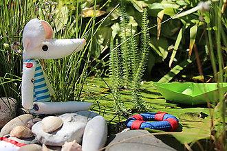 Bábiky - myš - námorníčka Anita - 6951104_
