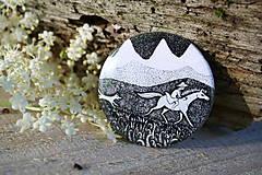 Odznaky/Brošne - Placka s koněm - 6952701_
