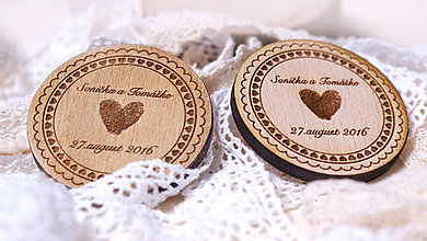 Darčeky pre svadobčanov - Darček pre svadobčanov priemer 3,5 cm - 6952268_