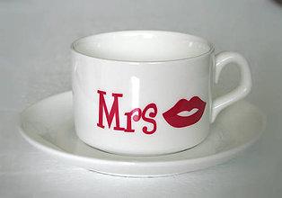 Nádoby - Šálka - svadobná Mrs - 6951463_