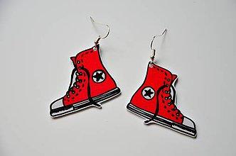 Náušnice - Náušnice tenisky červené - 6951064_