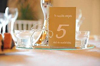 Drobnosti - Svadobná kniha & číslovanie stolov - 6951237_