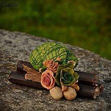 Dekorácie - Kvetiny do police - kvetinová dekorácia - 6952878_
