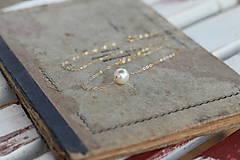 - Zlatý náhrdelník s perlou na svadbu - 6951443_