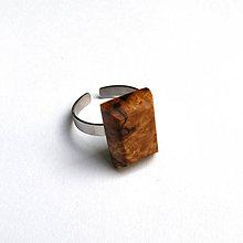 Prstene - Špaltovaná buková hrča - obdĺžniček - 6952840_