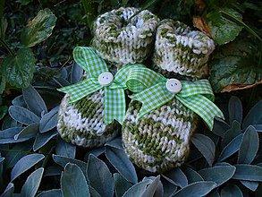 Topánočky - Kapustičkové papučky na babynožičky - 6952625_