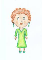 Kresby - Milé dievča - 6951605_