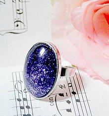 Prstene - Sparkling Violet & White / Trblietavý prsteň - 6953762_