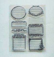 Pomôcky/Nástroje - Silikónové razítka, pečiatky - 14x18 cm - ozdobné rámiky, ornamenty - 6953654_