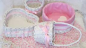 - Košíky-Svadobná súprava ružovkastá - 6954691_
