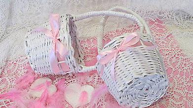 Košíky - Košík pre družičky-ružovkastý - 6954579_