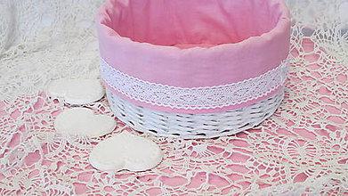 Košíky - Košík okrúhly-ružovkastý - 6954629_