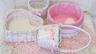 Košíky - Košíky-Svadobná súprava ružovkastá - 6954691_