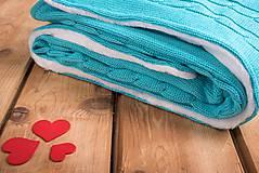 Textil - Detská Deka na Zimu, OEKO-TEX® - Tyrkysová - 6954776_