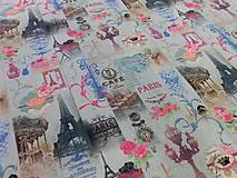 Textil - Bavlnená látka Paris II - cena za 10 cm - 6956524_