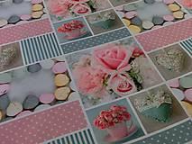 Textil - Bavlnená látka Sweet Patchwork - cena za 10 cm - 6956584_