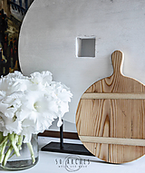 Dekorácie - lopár okrúhly, S staré drevo - 6953820_