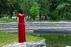 Šaty - letné bordové - 6955408_