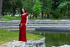 Šaty - letné bordové - 6955410_